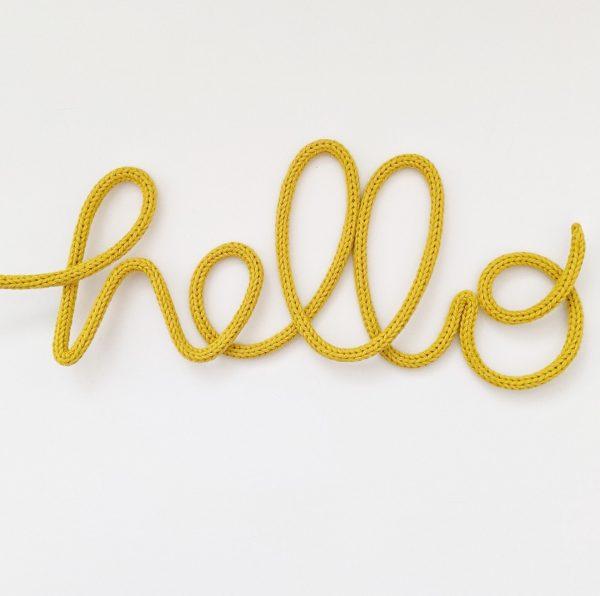 hello wire sign